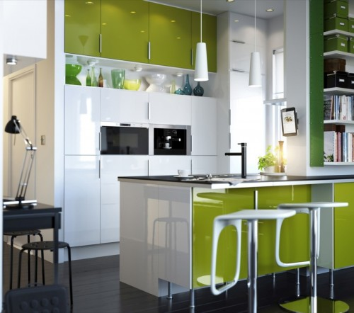 Modern Kitchen Set 2012 Green White Modern Kitchen Set 2012 Green