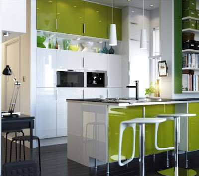 Modern Kitchen Set 2012 Green White