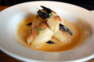 Stitch and Bear - Liscanor crab claws at the Wild Honey Inn