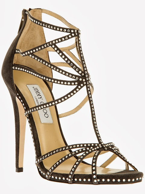 Jimmy Choo Vendetta Smoke Embellished High Heel Sandals