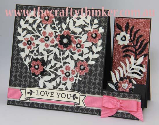 SU, side step card, paper piecing, hand made valentine card