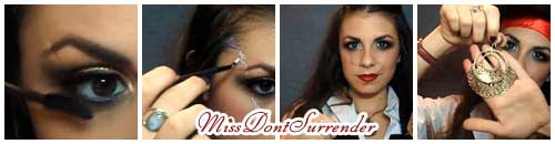Maquillaje para disfraz de pirata por Miss Dont Surrender collage
