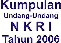 daftar uu tahun 2006