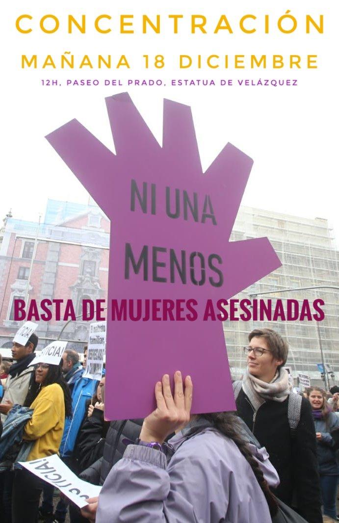 18 diciembre Concentración #NUnaMas #NiUnaMenos