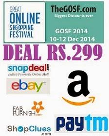 Rs.299 Deal Corner @ Ebay | Snapdeal | PayTm | Shopclues | Amazon | FabFurnish