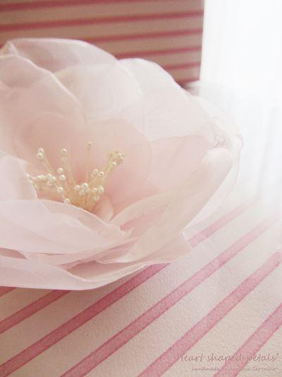 Flor em organza para noivas