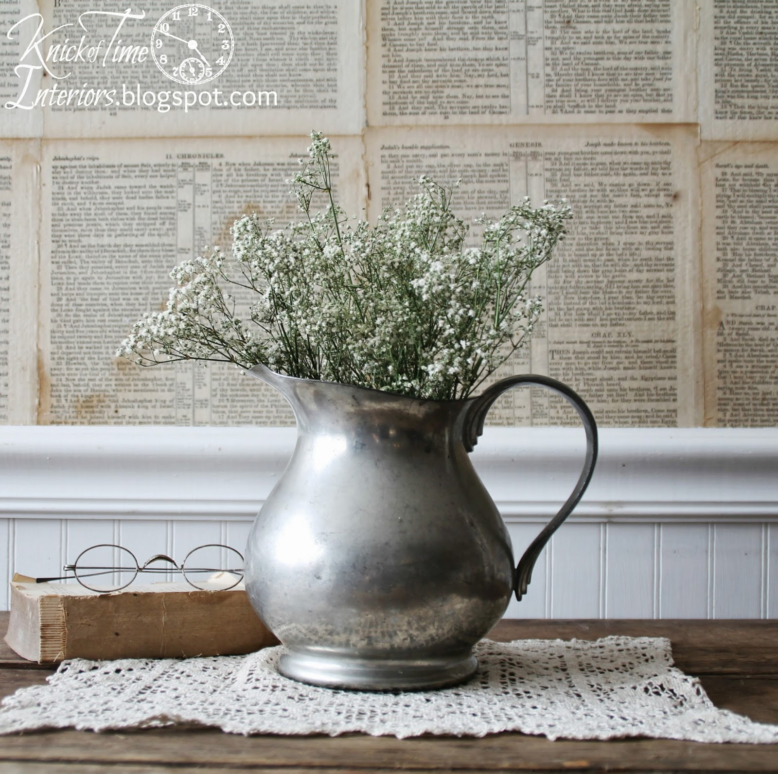 Reed and Barton Pewter Pitcher available from Knick of Time
