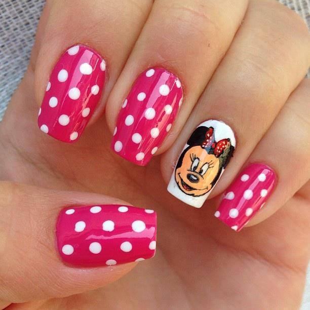 Diseños de uñas de Mickey Mouse paso a paso - Imagui
