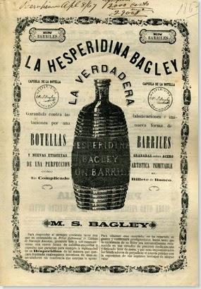 cartel de bebida hesperidina