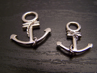 lovers, anchor, silver pendant, gift set