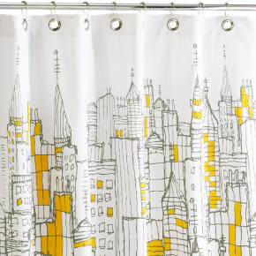 Artsy Shower Curtain Of A City Landscape