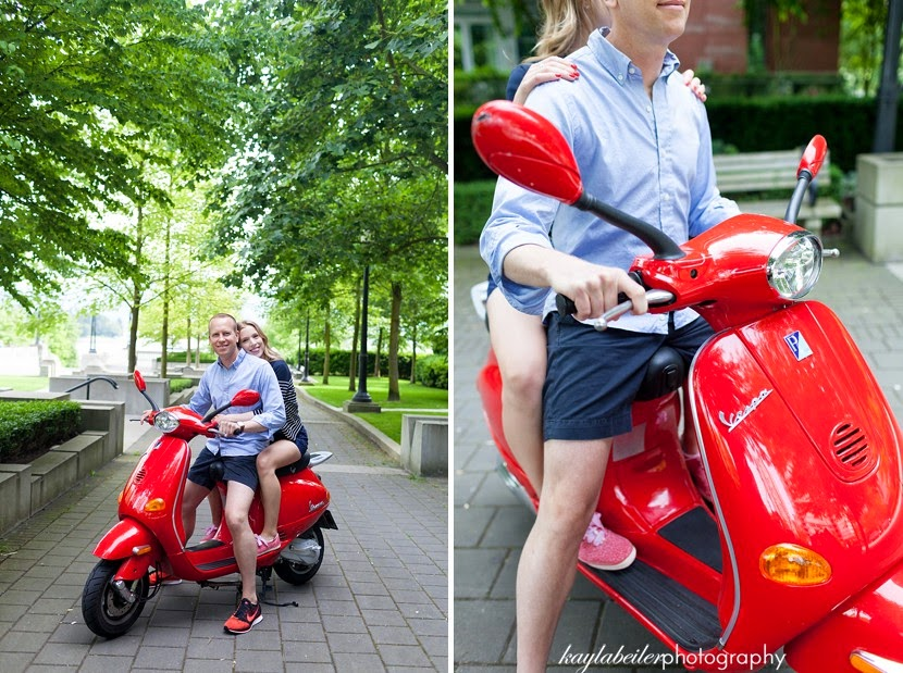vespa engagement photo