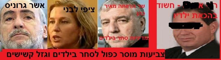 מאיר כהן, אשר גרוניס וציפי לבני - צביעות, מוסר כפול לסחר בילדים וגזל קשישים