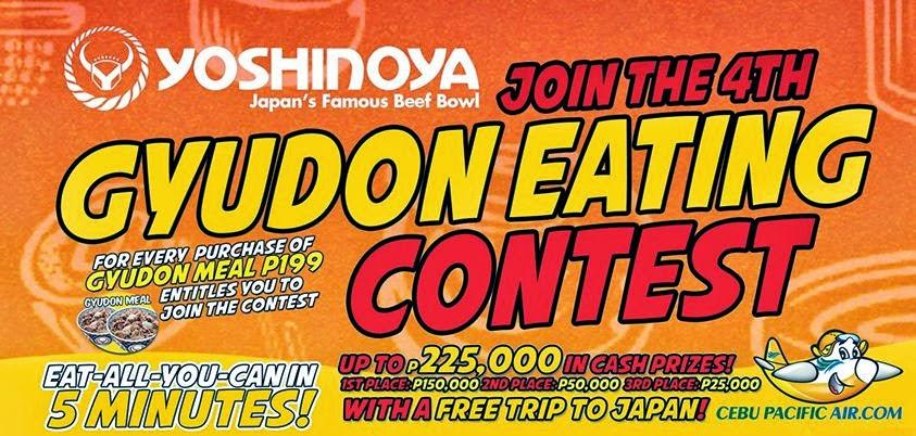 yoshinoya gyudon eating contest japan