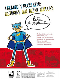 Promoción lectora, Talleres, Comic, Biblioteca, Bibliotecarios, Recreación, Biblioteca Universidad del Valle, Historietas