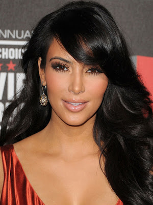 Kim Kardashian Dangling Gemstone Earrings