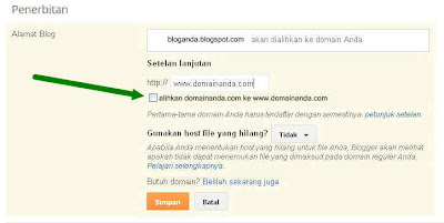 blogger custom domain, setting domain namecheap ke blogspot