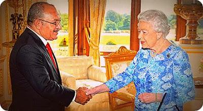 Peter O'Neill Temui Ratu Elizabeth