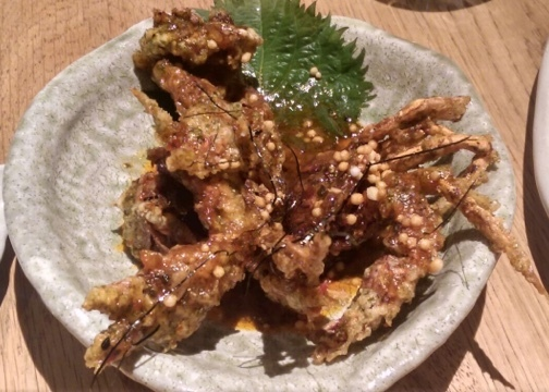 soft shelled crab ROKA japanese food