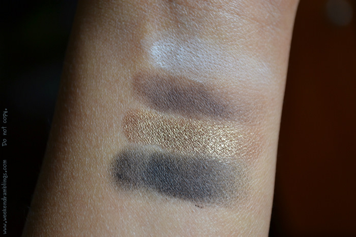 Illmasqua Makeup 2012 Summer collection Human Fundamentalism Neutral Palette Eyeshadows Swatches Reviews Ingredients Stealth Obsidian wolf vintage black brown blog beauty indian looks fotd eotd