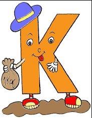 alfabeto colorido letra k