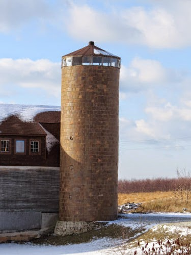 salt-glazed tile silo