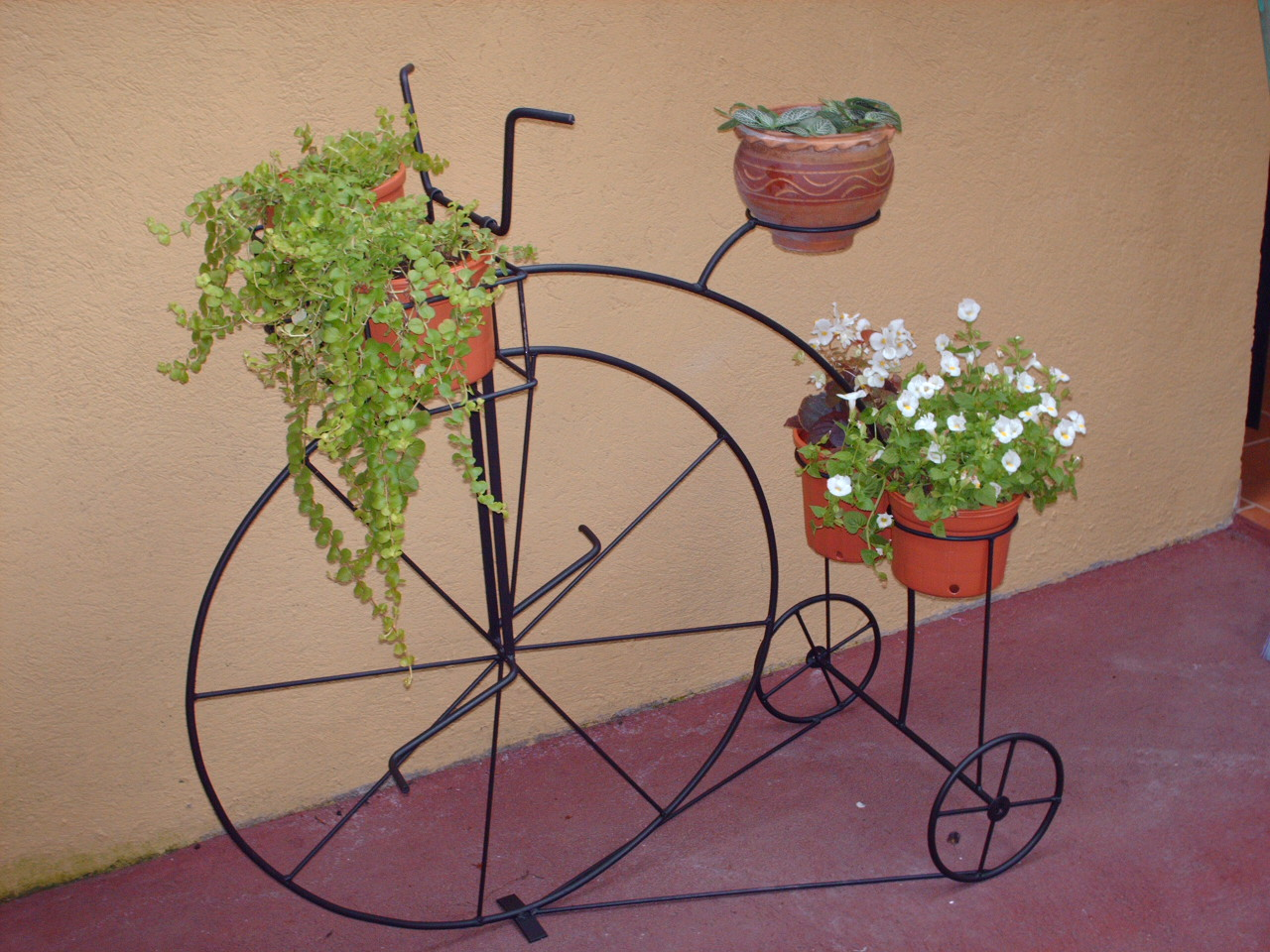 Hierro forjado - Bicicleta macetero ...
