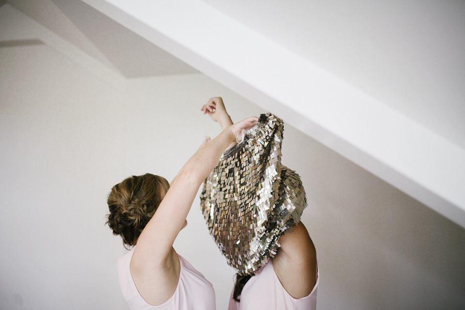 bridesmaids glitter