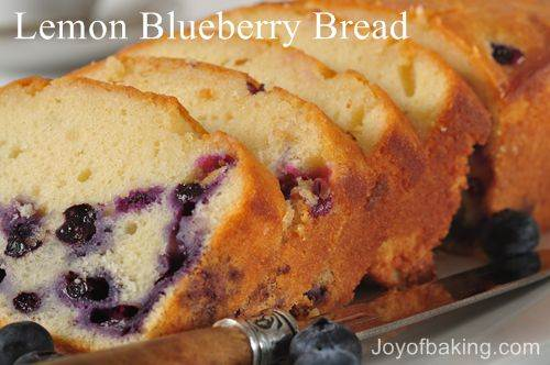 ... lemon blueberry quick bread i think i have blueberries on the brain