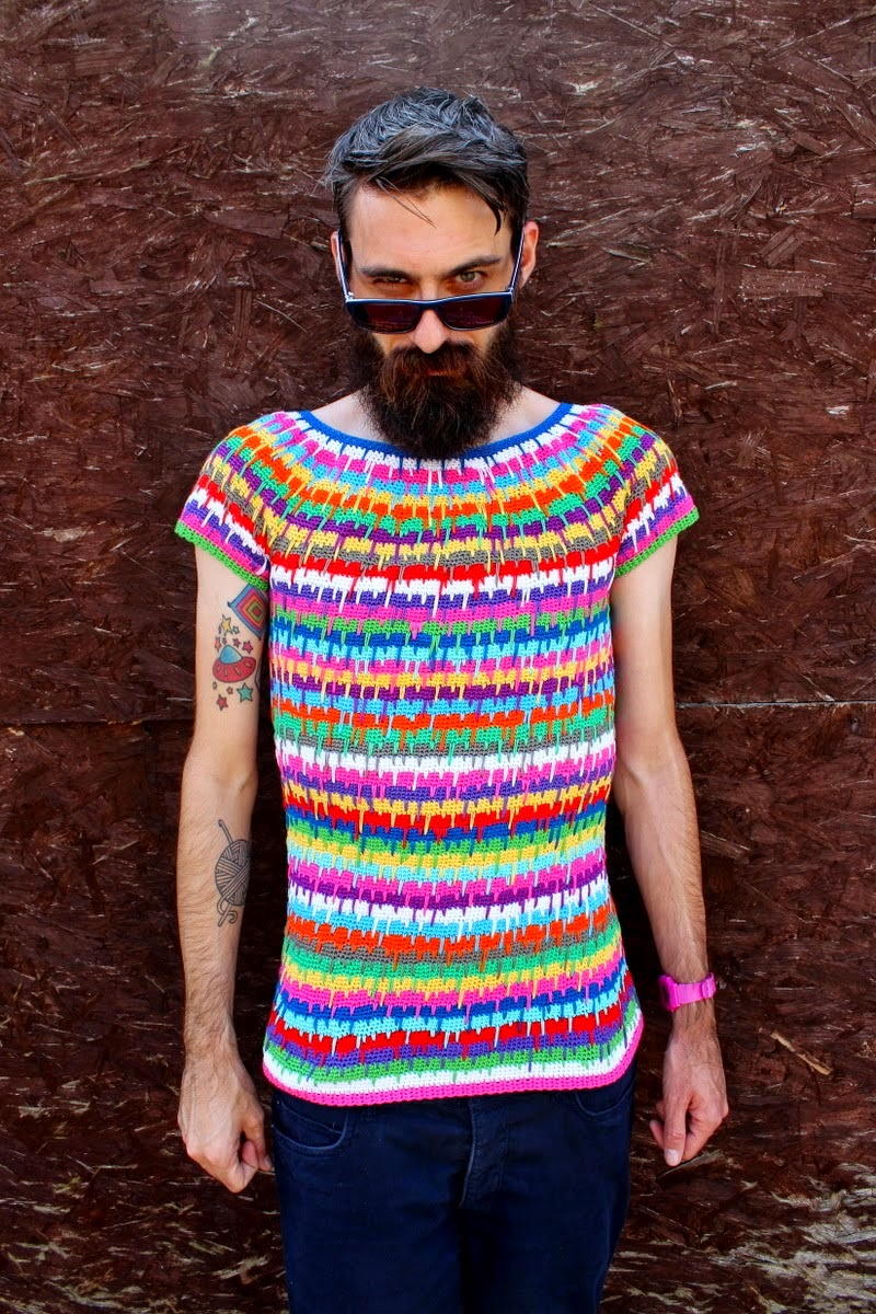 one man crochet