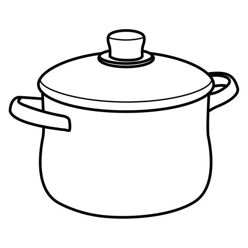 Dibujos para colorear utensilios de cocina for Dibujos para cocina