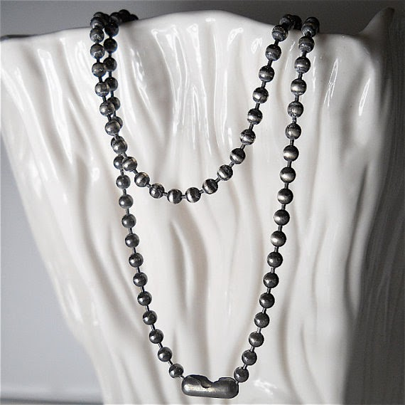 Can't Loose Fathers day Gift 3mm Sterling Ball Chain from Your Daily Jewels on Etsy
