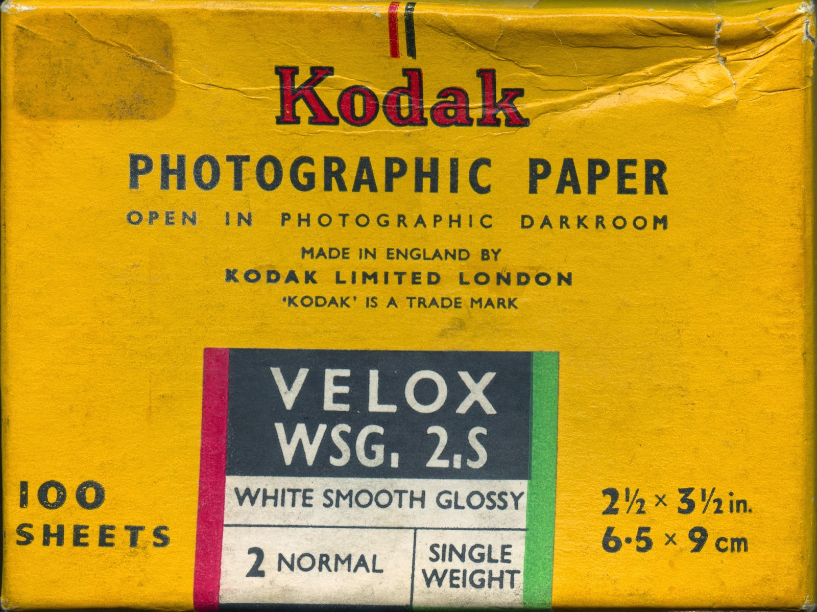 when was the velox photographic paper invented