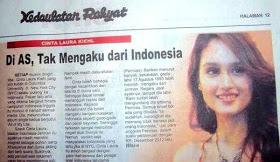 Cinta Laura Tak Mau Mengakui Indonesia