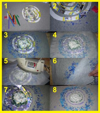 Cómo hacer las camisetas con viruta de cera