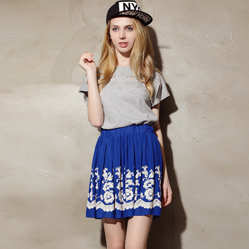 Olivia Embroidered Flare Skirt