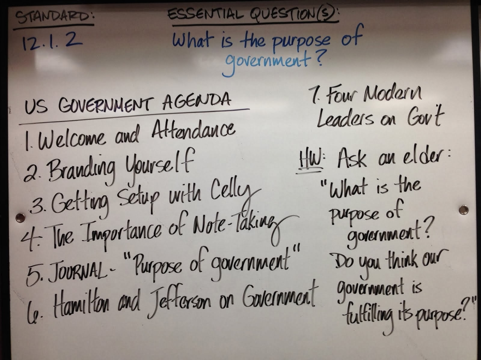 the three purposes of government All state governments are modeled after the federal government and consist of  three branches: executive, legislative, and judicial the us constitution.