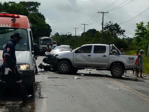 Menino de 6 anos morreu em acidente na BR-101 (Foto: Leandro Alves: Portal Bahia News)