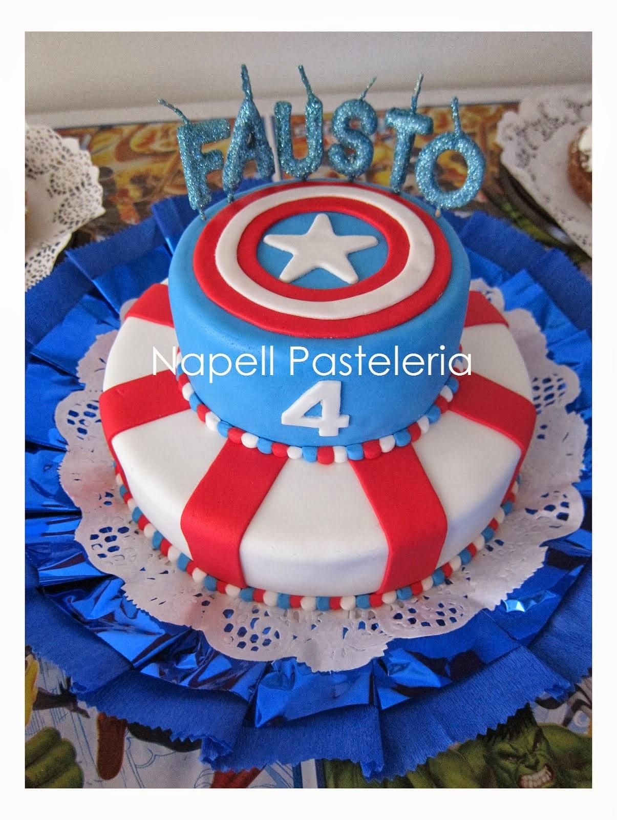 Torta doble Capitan America