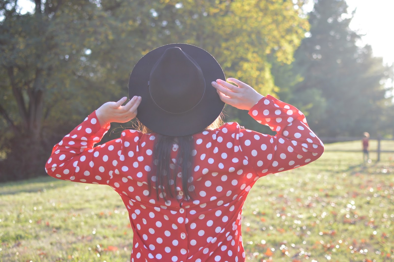 Vintage Polka Dot Blouse - Style for the Camera