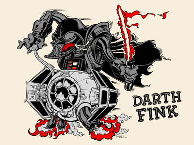 "Star Wars x Rat Fink ""Darth Fink"" Standard Edition Screen Print by Joshua Budich"