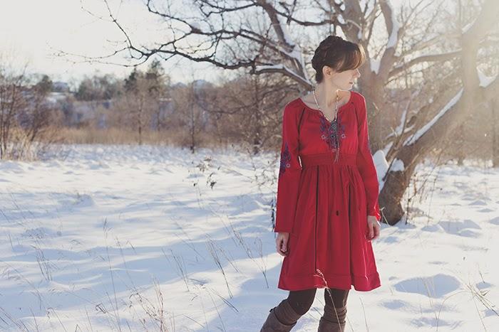 eShakti-dress-boho-winter-braid