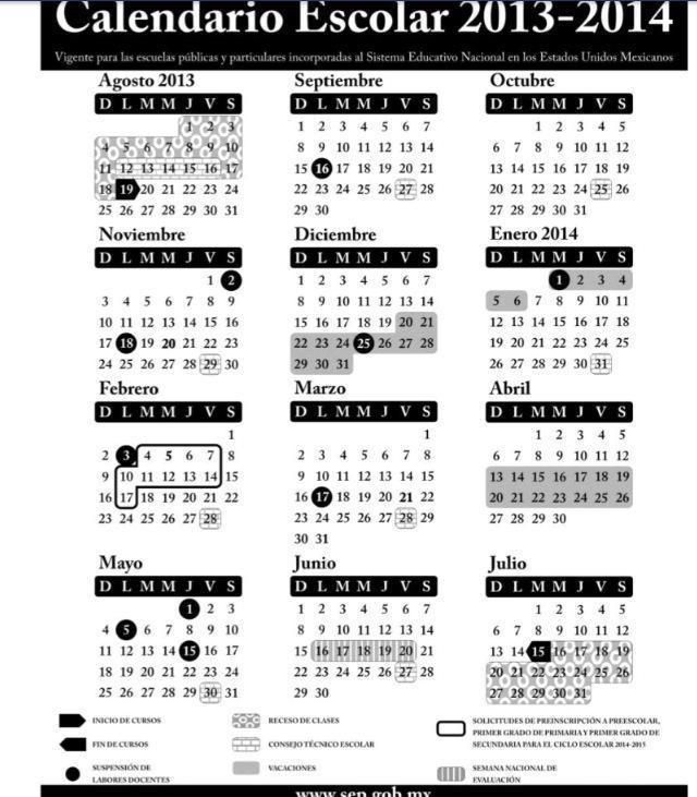 calendario u de g 2013