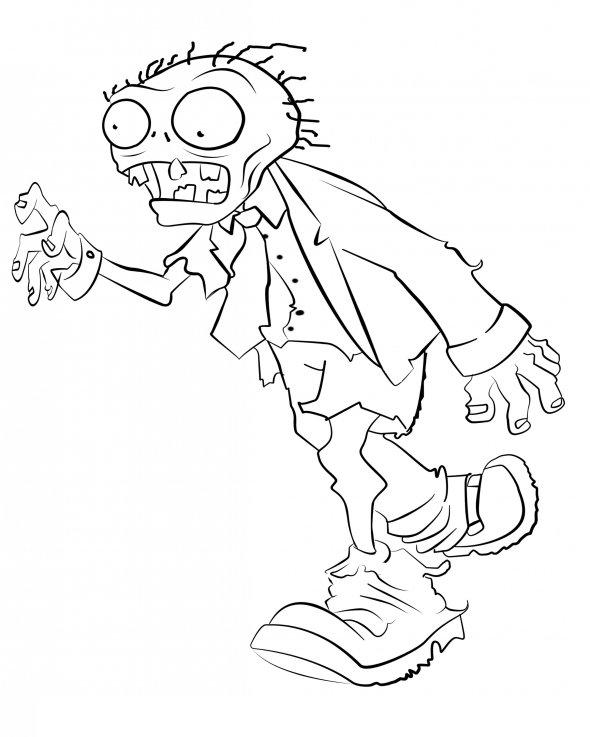Plants vs Zombies Coloring Pages Free