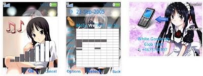 秋山澪@K-ON! SonyEricsson手機主題for Elm/Hazel/Yari/w20﹝240x320﹞