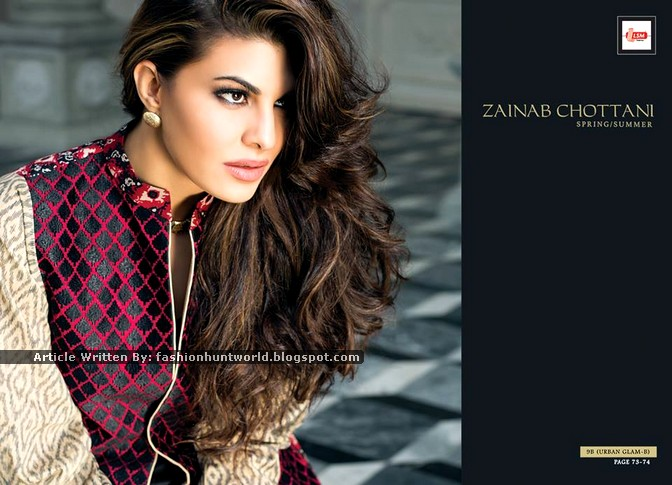 Zainab Chottani S/S 2015 Lawn Collection Featuring By Jacqueline Fernandez