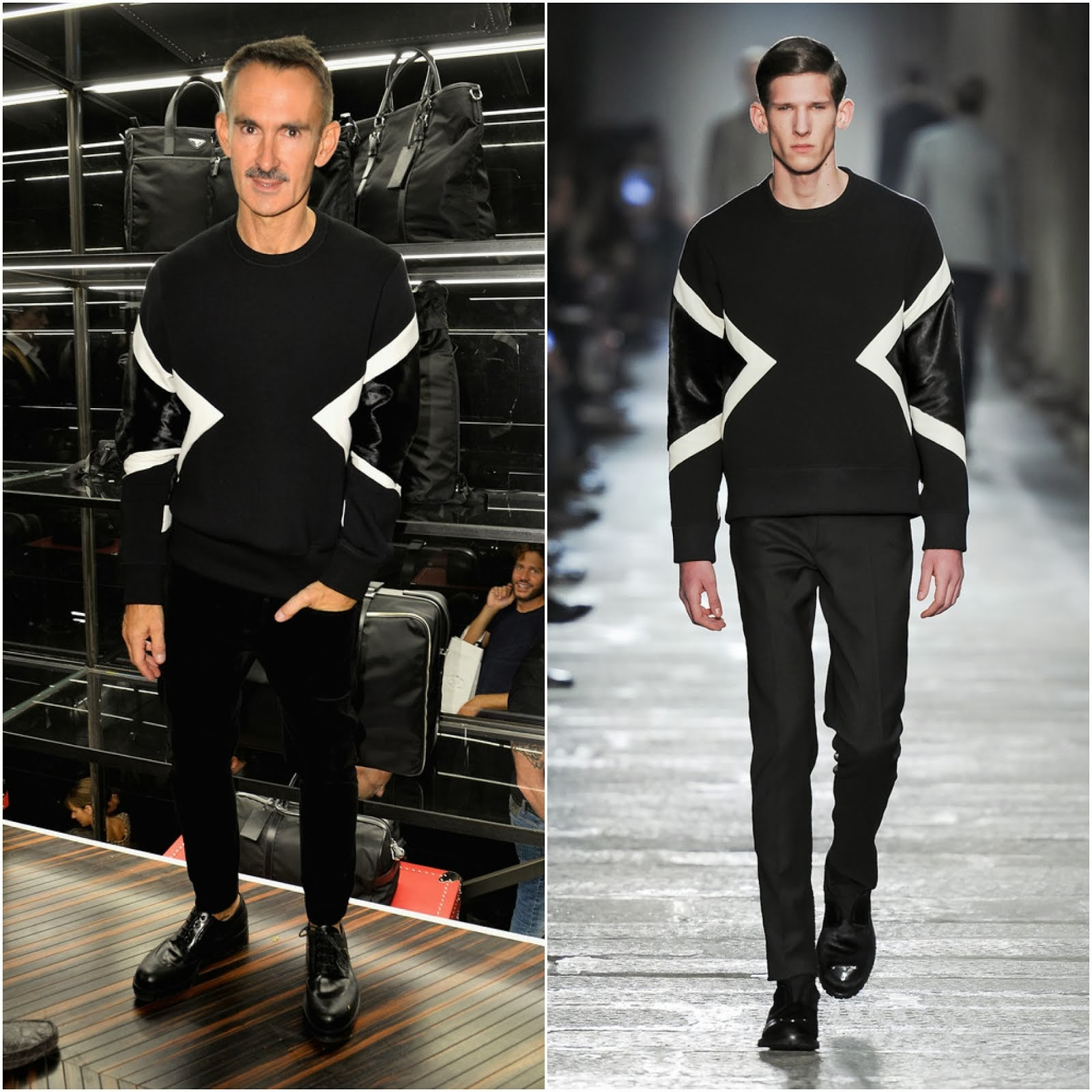 00O00 Menswear blog: Neil Barrett in Neil Barrett - Prada Galleria And Montenapoleone Party, Milan Fashion Week