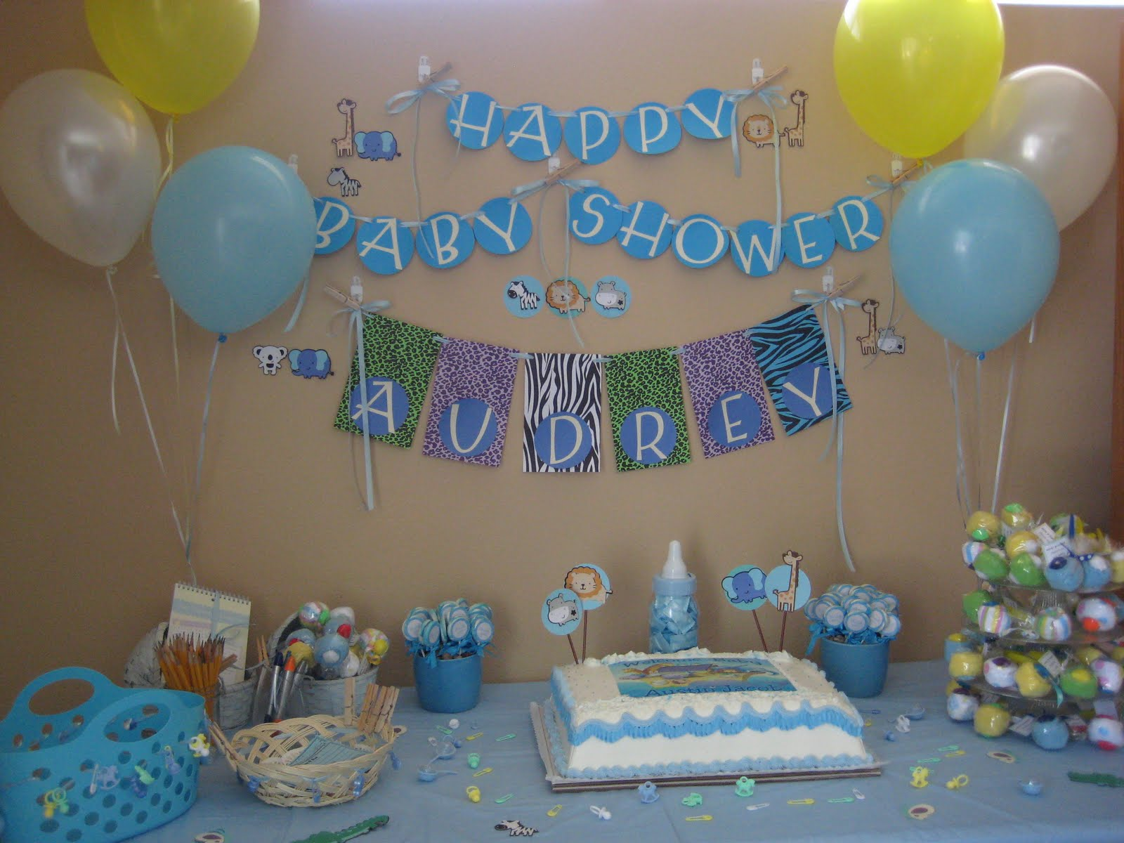 Everything anastacia happy baby shower for Baby shower decoration pics