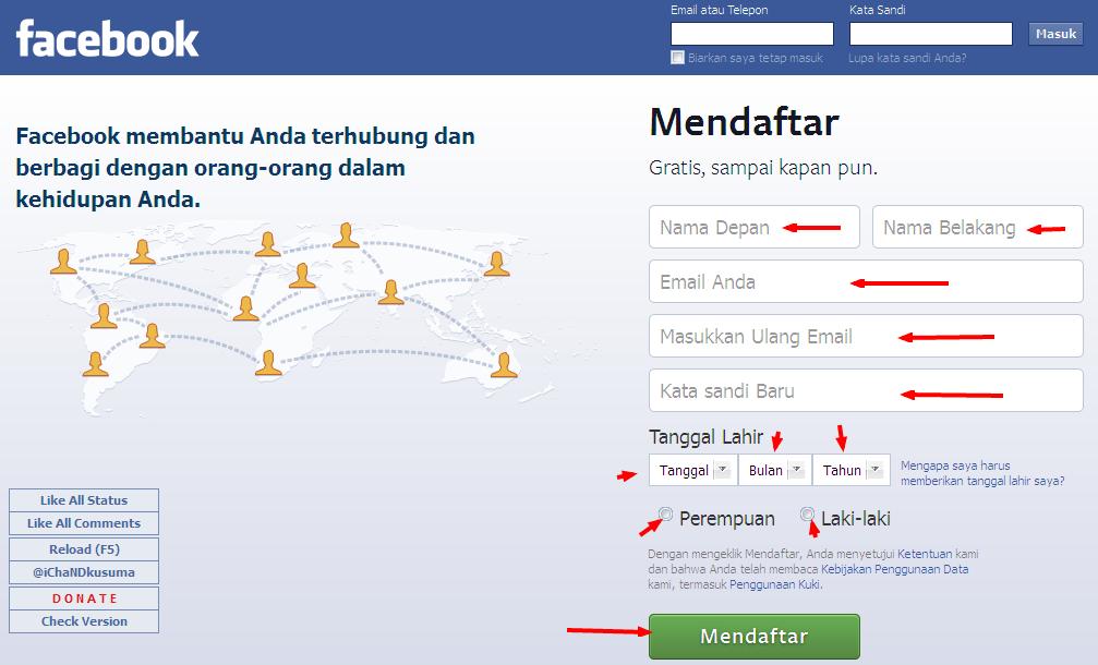 Cara Membuat Facebook Terbaru