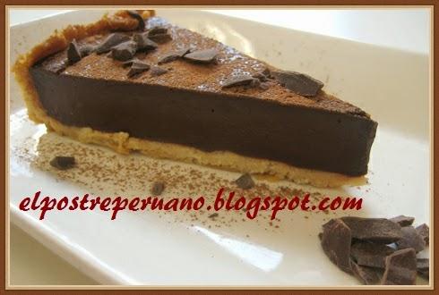 delicioso postre de chocolate